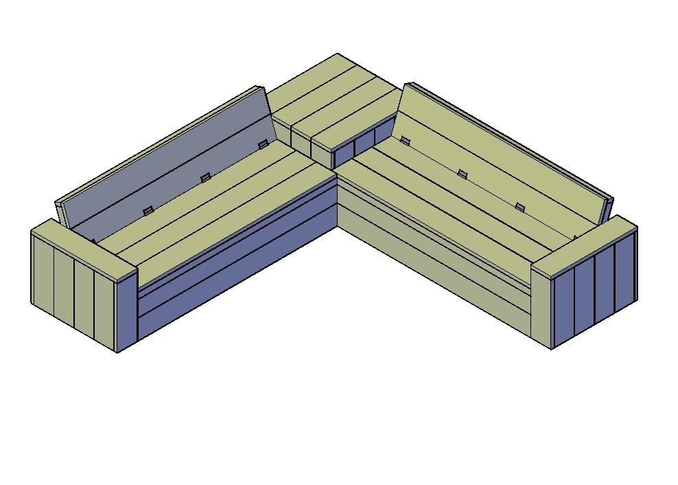 Bekend Een bank maken doe je met bouwtekeningen en uitleg (+100 modellen) UC57