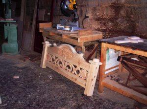 Steigerhouten Bed