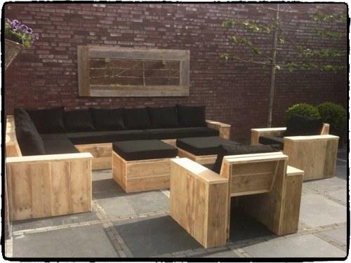Loungeset maken van steigerhout klik hier for Steigerhout loungeset zelf maken