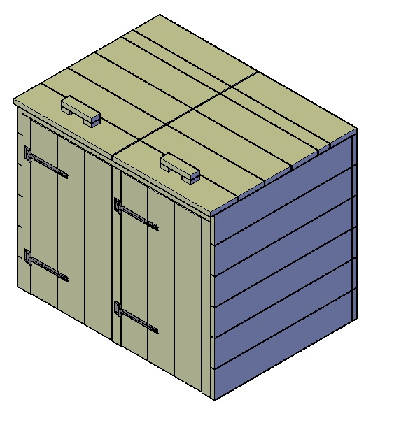 Kliko-ombouw 2 grote containers