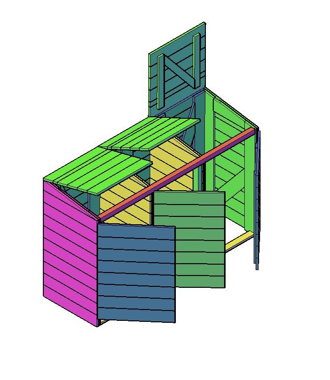 Kliko-ombouw maken voor 2x kliko 585mm breed en voor 1 kliko van 480mm breed