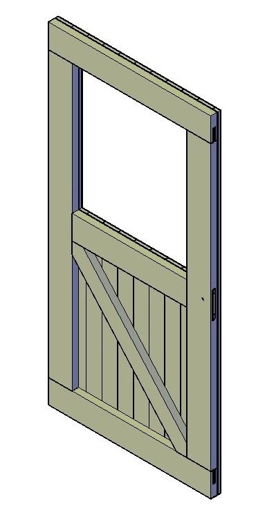 Schuurdeur met raam maken