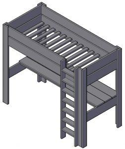 Stapelbed met bureau maken hoe doe je dat klik hier for Bureau van steigerhout maken