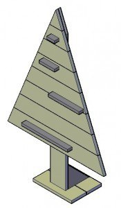 Steigerhout kerstboom maken