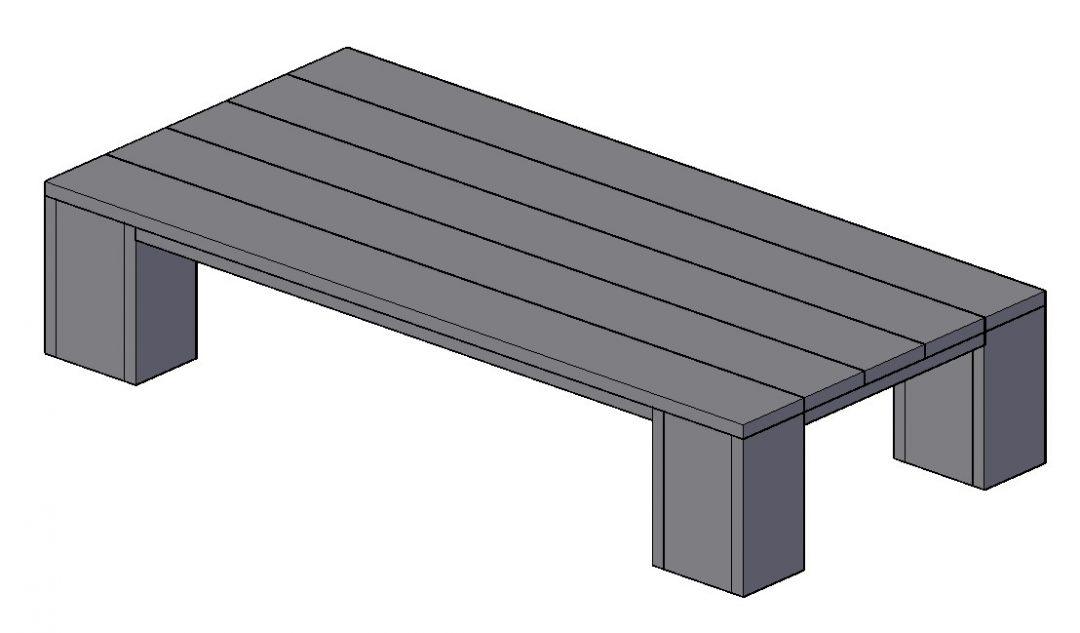 ≥ kruispoot tafel maatwerk nieuw steigerhout eettafel