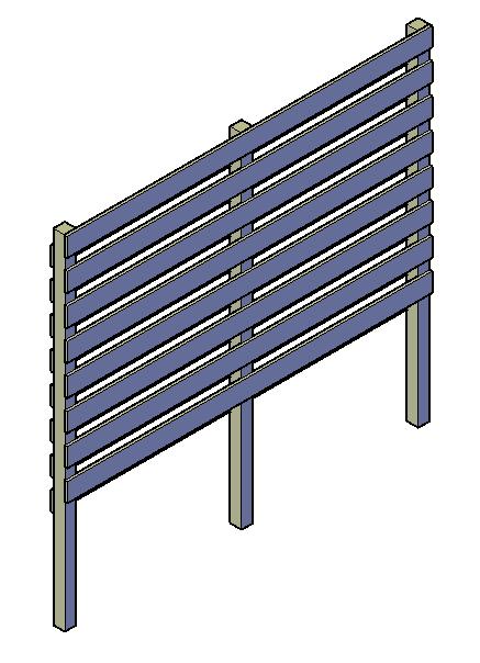 Planken voor houthok schroeven