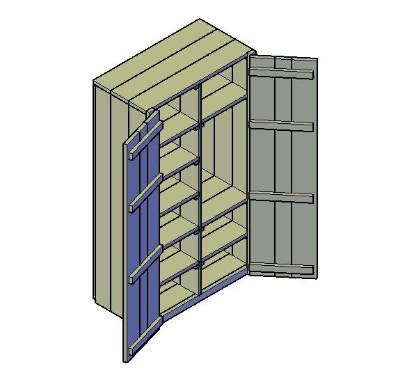 Kast bouwtekening nodig om een kast te bouwen? (Klik Hier)