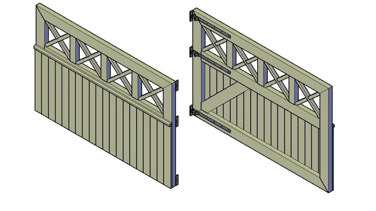 Hedendaags Houten poort maken: checklist, stappenplan en bouwtekening HE-33