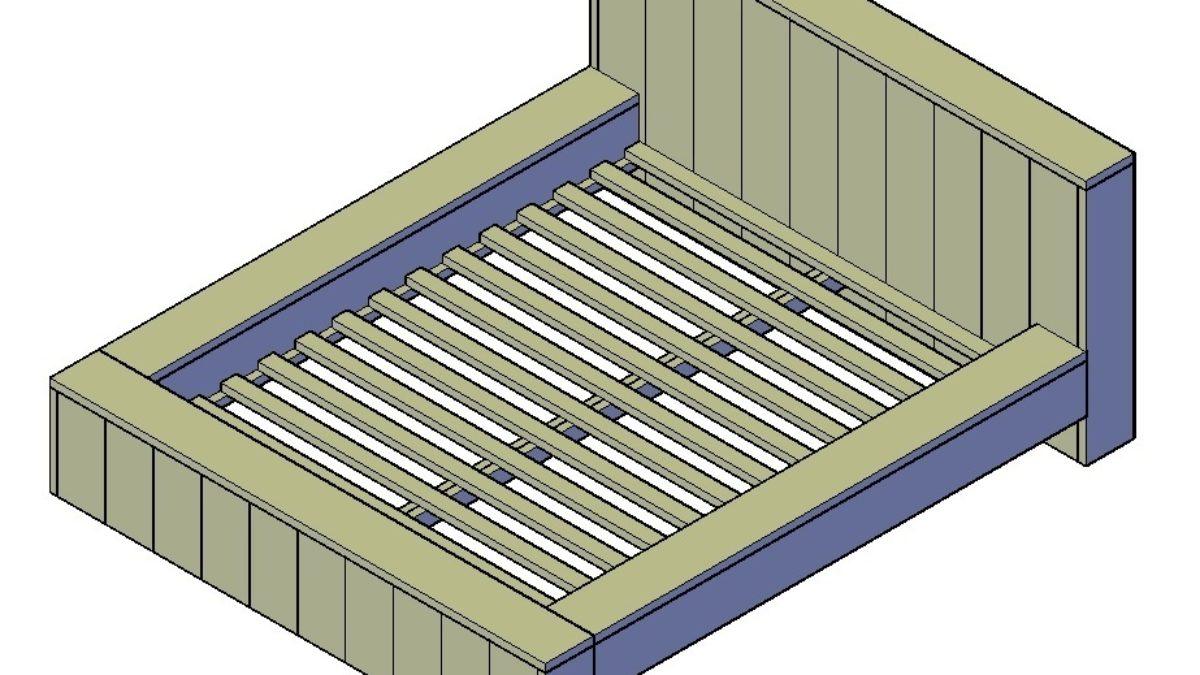 Verwonderend Steigerhout bed maken hoe doe je dat? + GRATIS Inspiratie (Klik Hier) ZS-39