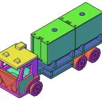 Maak zelf een houten speelgoed vrachtwagen