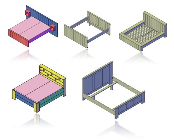 Een selectie uit de tweepersoonsbedden die je kunt bouwen