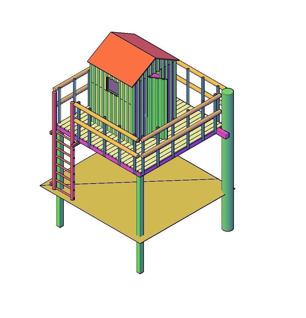 Speelhuisje Boomhut bouwen