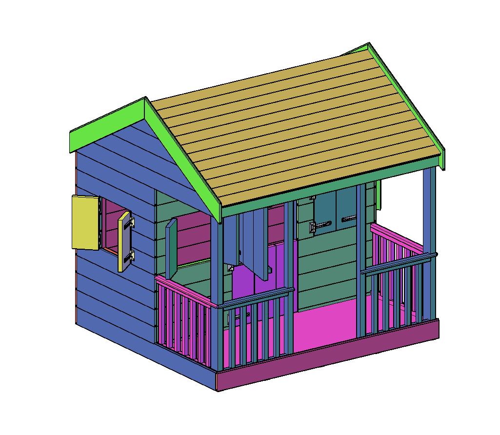 speelhuisje bouwtekening