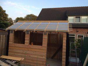 schuur bouwen plat dak