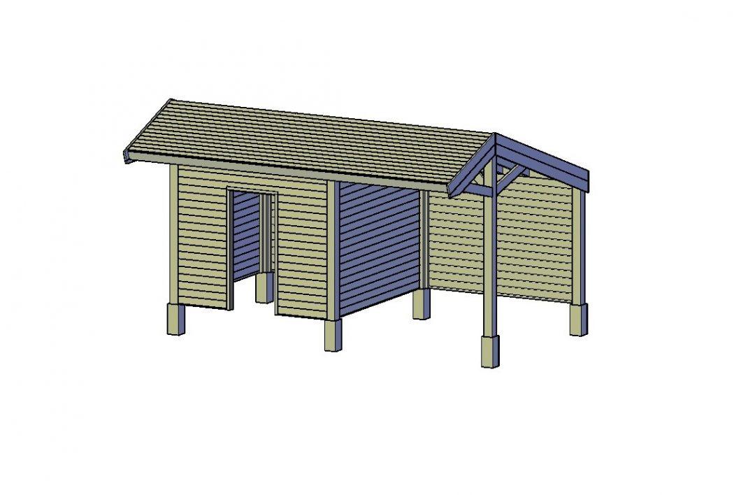 Kapschuur bouwen hout