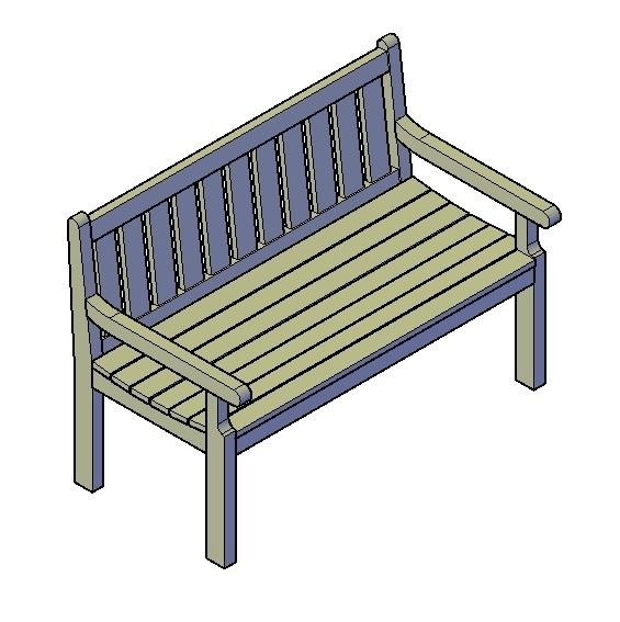 houtenbank type A