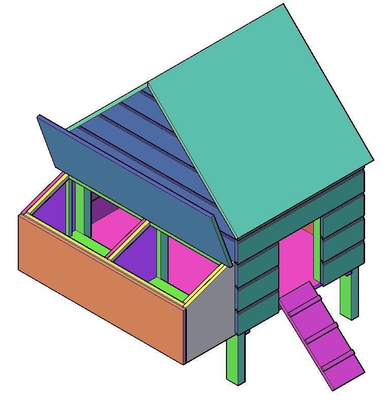 kippenhok bouwpakket kippenhok bouwtekening