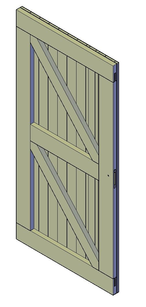 Zeer Standaard deur afmetingen - Fred's Bouwtekeningen CC91