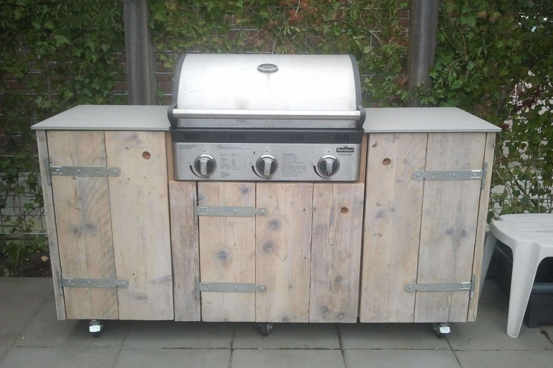 inbouw barbecue type d hout