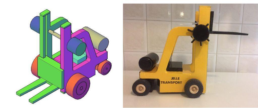 Houten speelgoed Heftruck