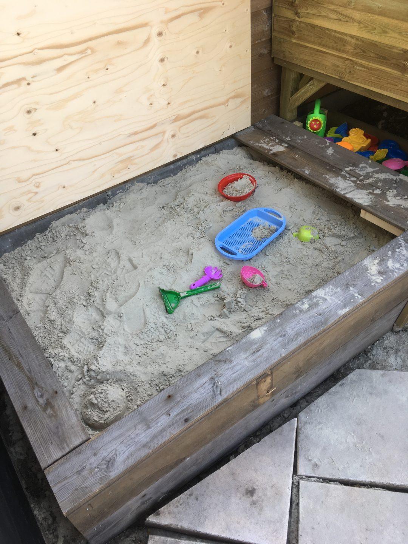 Zandbak maken