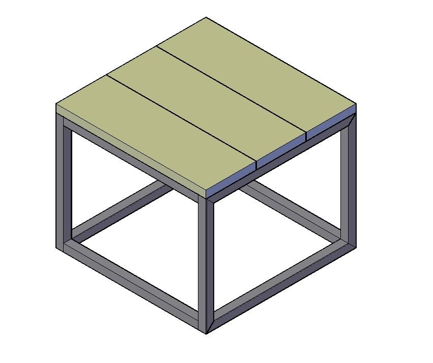 Vierkante balkontafel