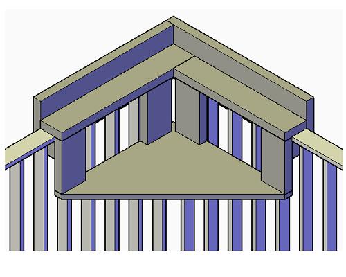 Balkon hoektafel